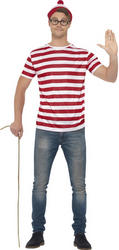Where's Wally Mens Costume Kit