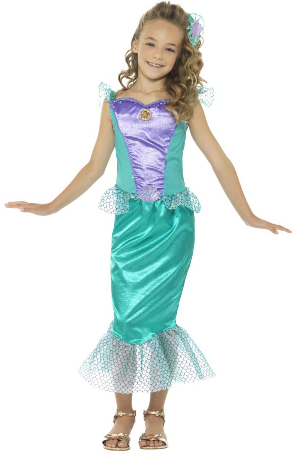 Deluxe Mermaid Girls Costume