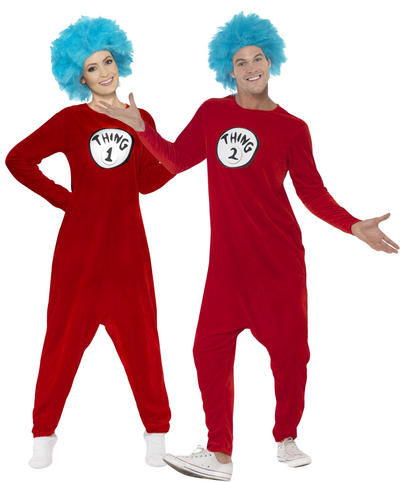 Thing 1 or Thing 2 Adults Costume