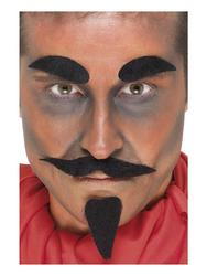 Evil Devil Facial Hair Set Halloween Adults Kit