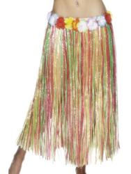 Long Hawaiian Hula Skirt Costume Accessory