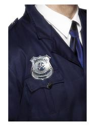 Metal Police Badge Costume Accessory