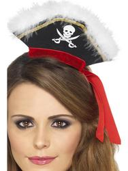Mock Pirate Hat on Headband