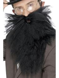 Black Long Beard & Tash Costume Accessory