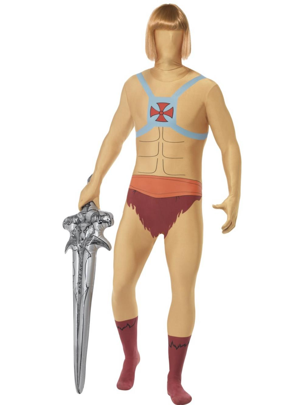 He-Man Second Skin & Inflatable Sword Costume