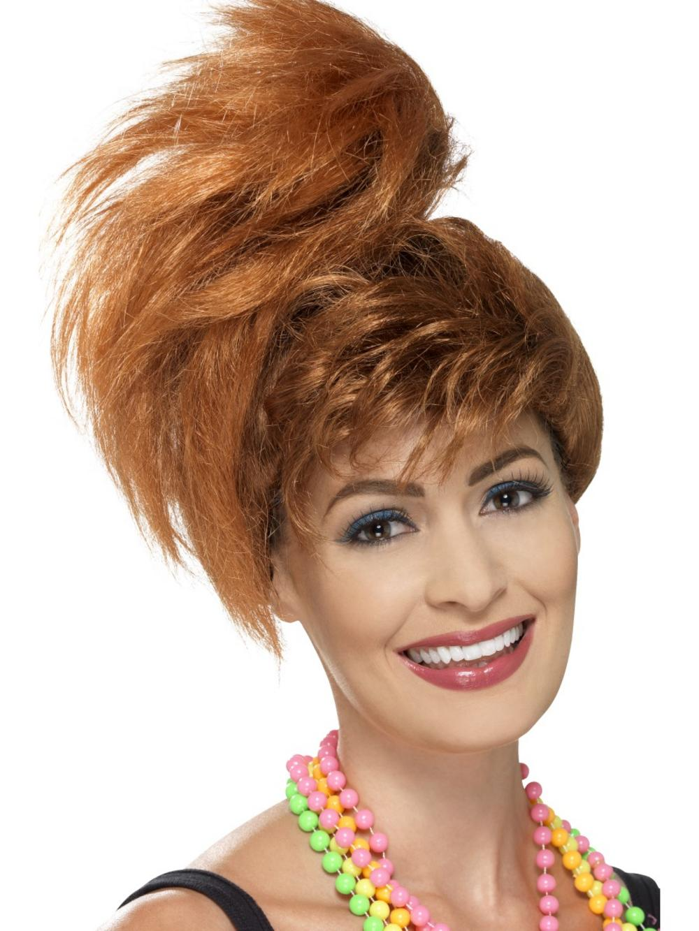 80's Side Ponytail Wig with Fringe