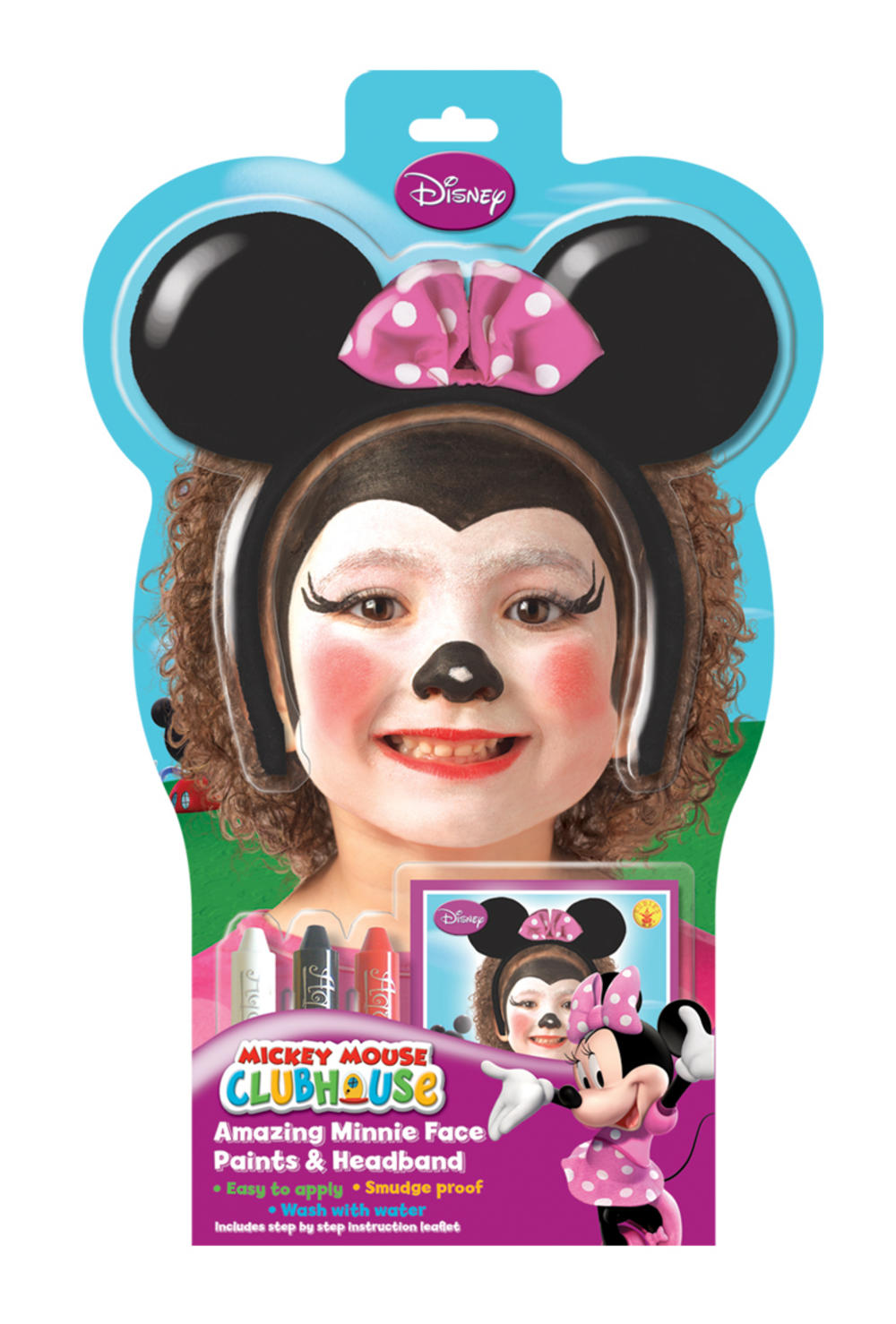 Disney Minnie Mouse Face Paint Kit Mega Fancy Dress