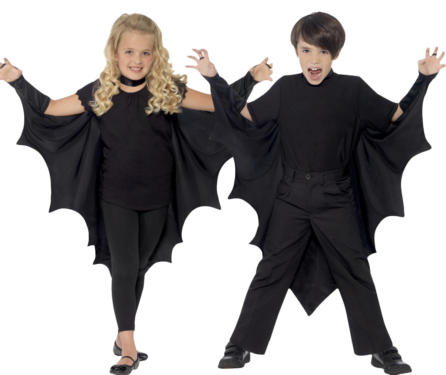vampire bat wings cape boys girls kids halloween fancy dress