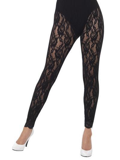 80s Black Lace Leggings
