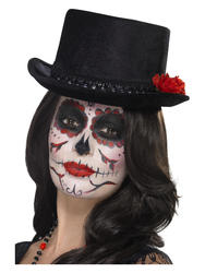 Day of the Dead Top Hat Costume Accessory