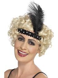 Black Flapper Headband