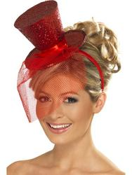Fever Red Mini Top Hat