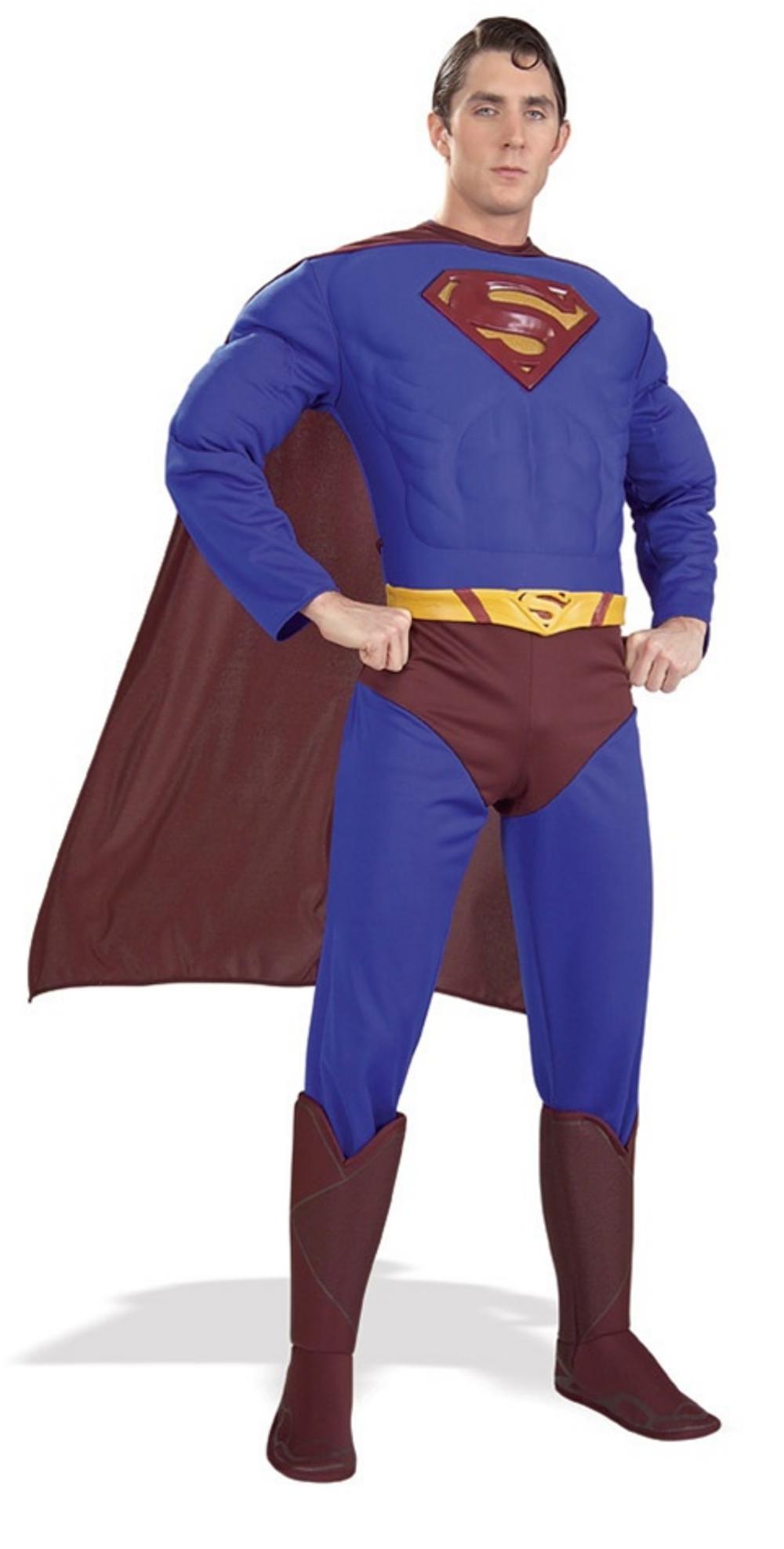 Men's Deluxe Superman Fancy Dress Costume