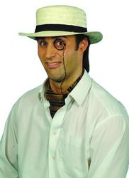 Straw Boater Hat Costume Accessory