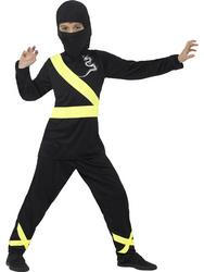 Black and Yellow Ninja Assassin Boys Costume
