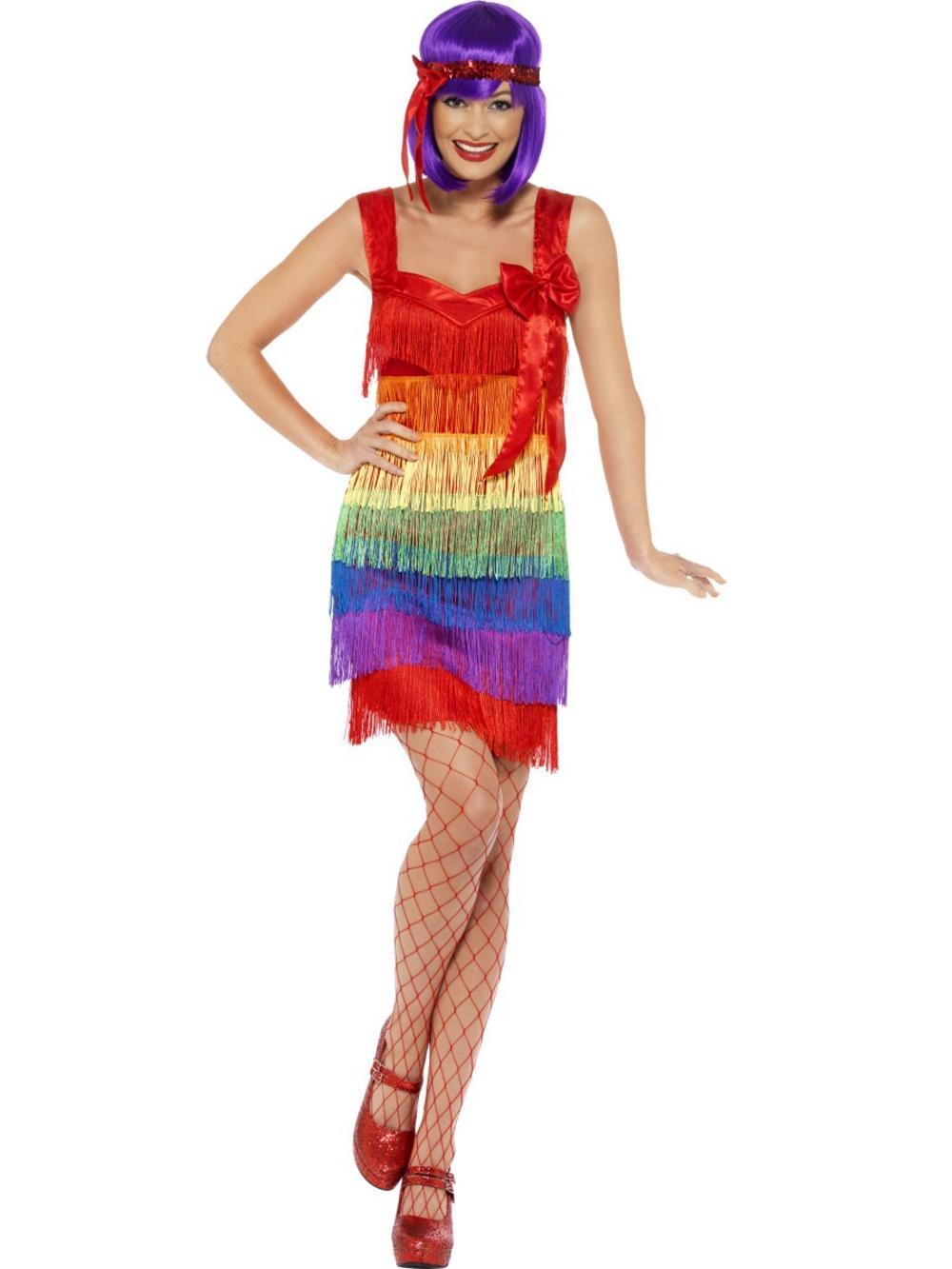 Rainbow Flapper Costume