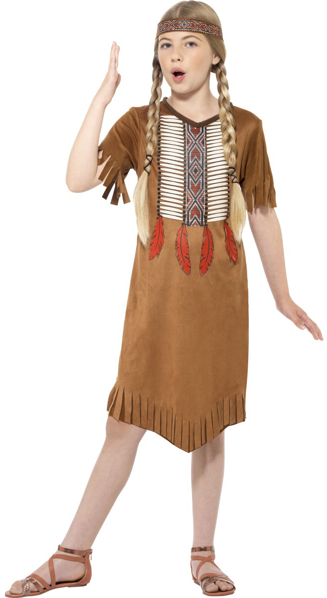 Sentinel Native American Girls Fancy Dress Wild Western Red Indian Kids Childrens Costume  sc 1 st  eBay & Native American Girls Fancy Dress Wild Western Red Indian Kids ...