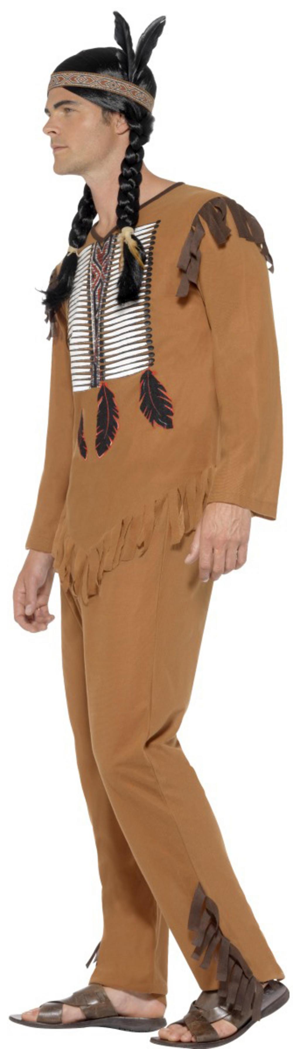 Native American Inspired Warrior Mens Costume | Letter u0026quot;Iu0026quot; Costumes | Mega Fancy Dress