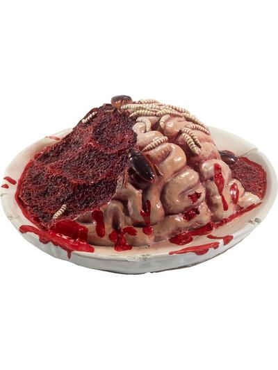 Latex Gory Gourmet Rotting Brain Plate Prop