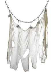 Hanging Skull & Muslin Chain Decoration