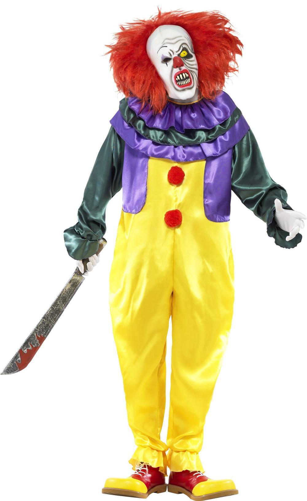 Classic Horror Clown Mens Costume