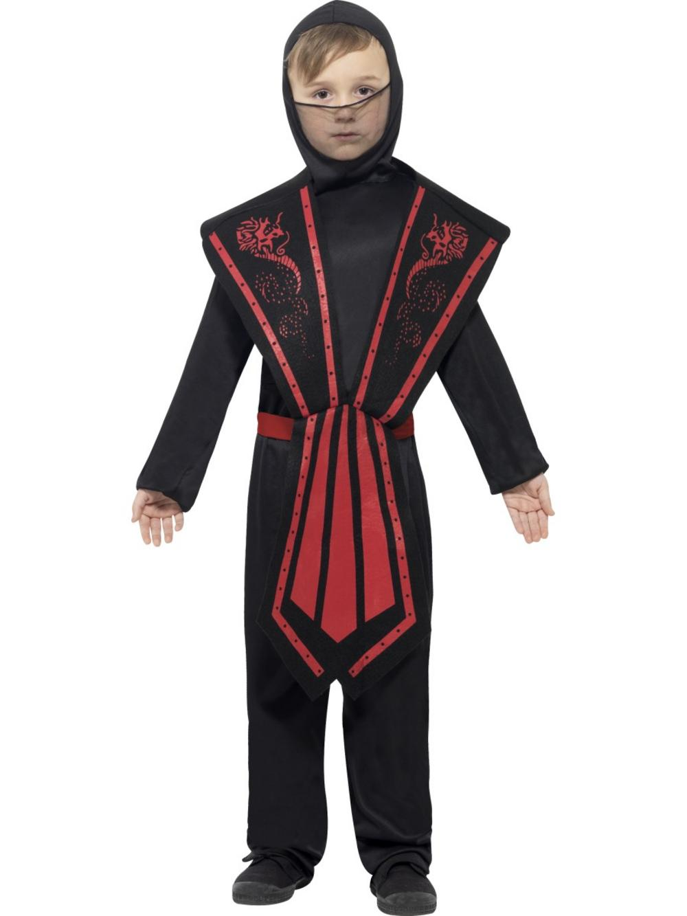 Ninja Black & Red Childs Costume