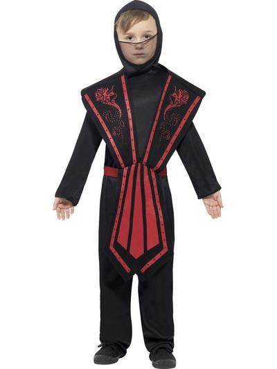 Ninja Black & Red Childs Costume