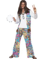 Groovy Hippie Mens Fancy Dress Costume