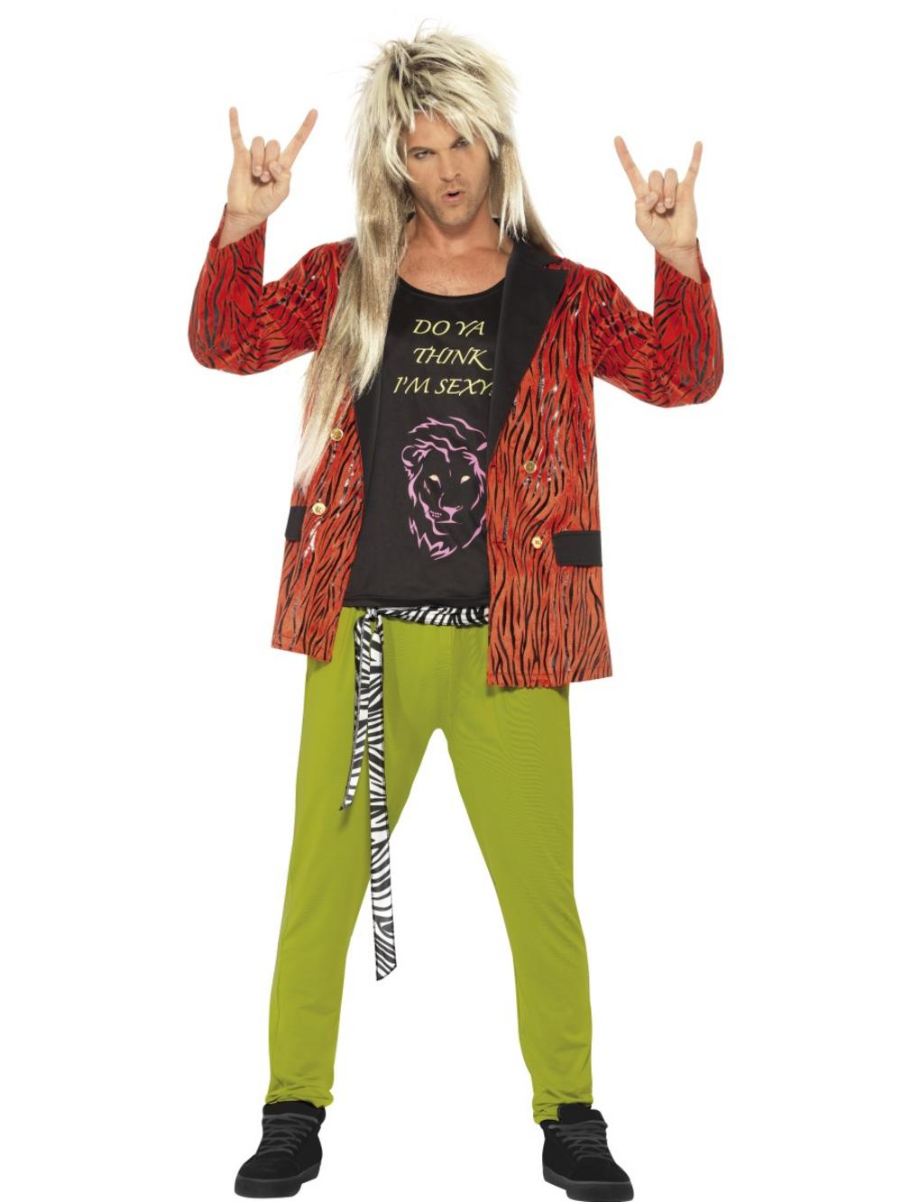 80's Rock Star Mens Costume