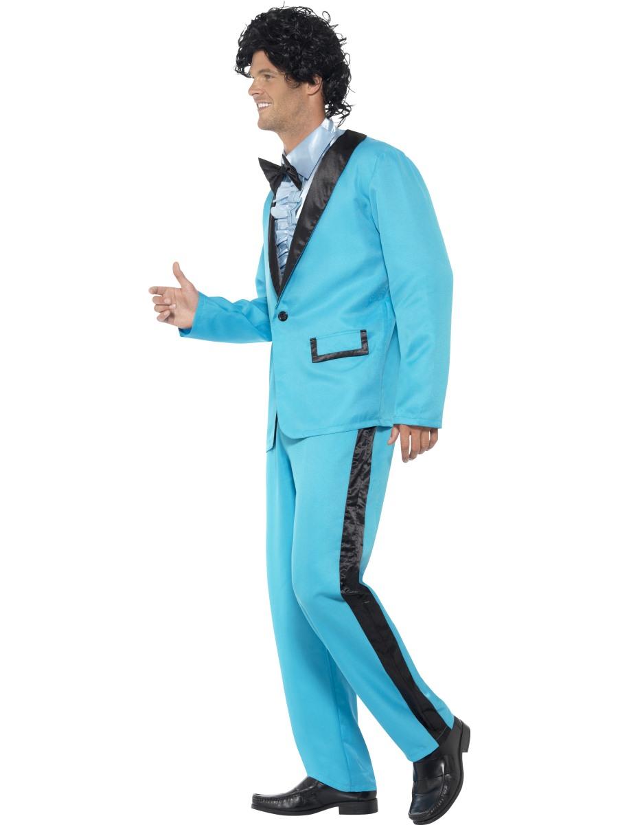 80s Prom King Mens Fancy Dress 1980s Disco High School Tuxedo Suit ...