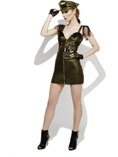 Fever Role-Play Military Chief Wet Look Ladies Costume