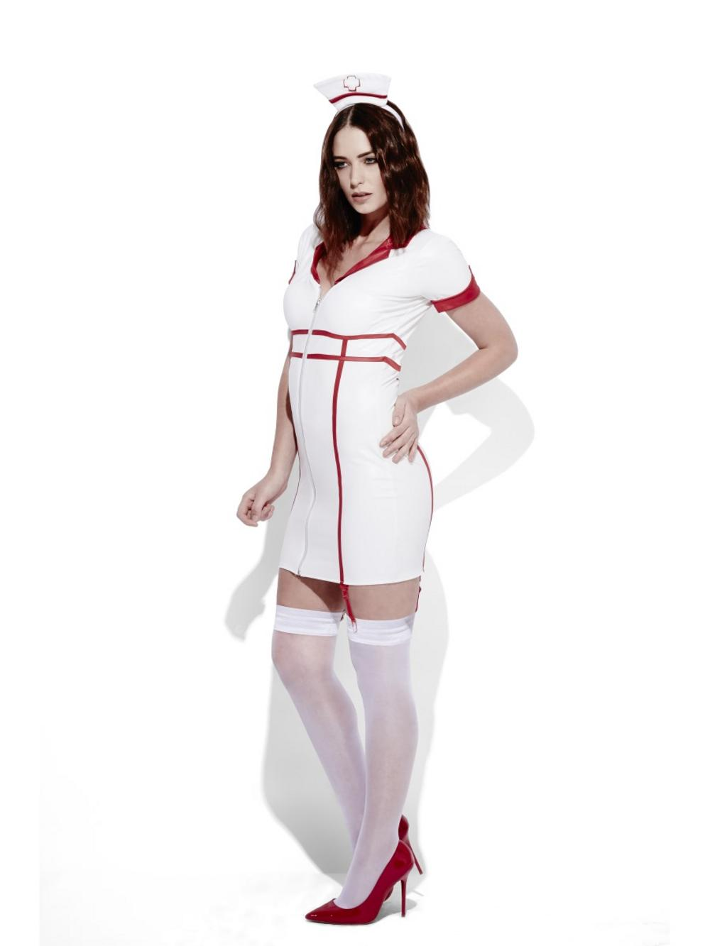 Fever Role-Play Nurse Wet Look Ladies Costume
