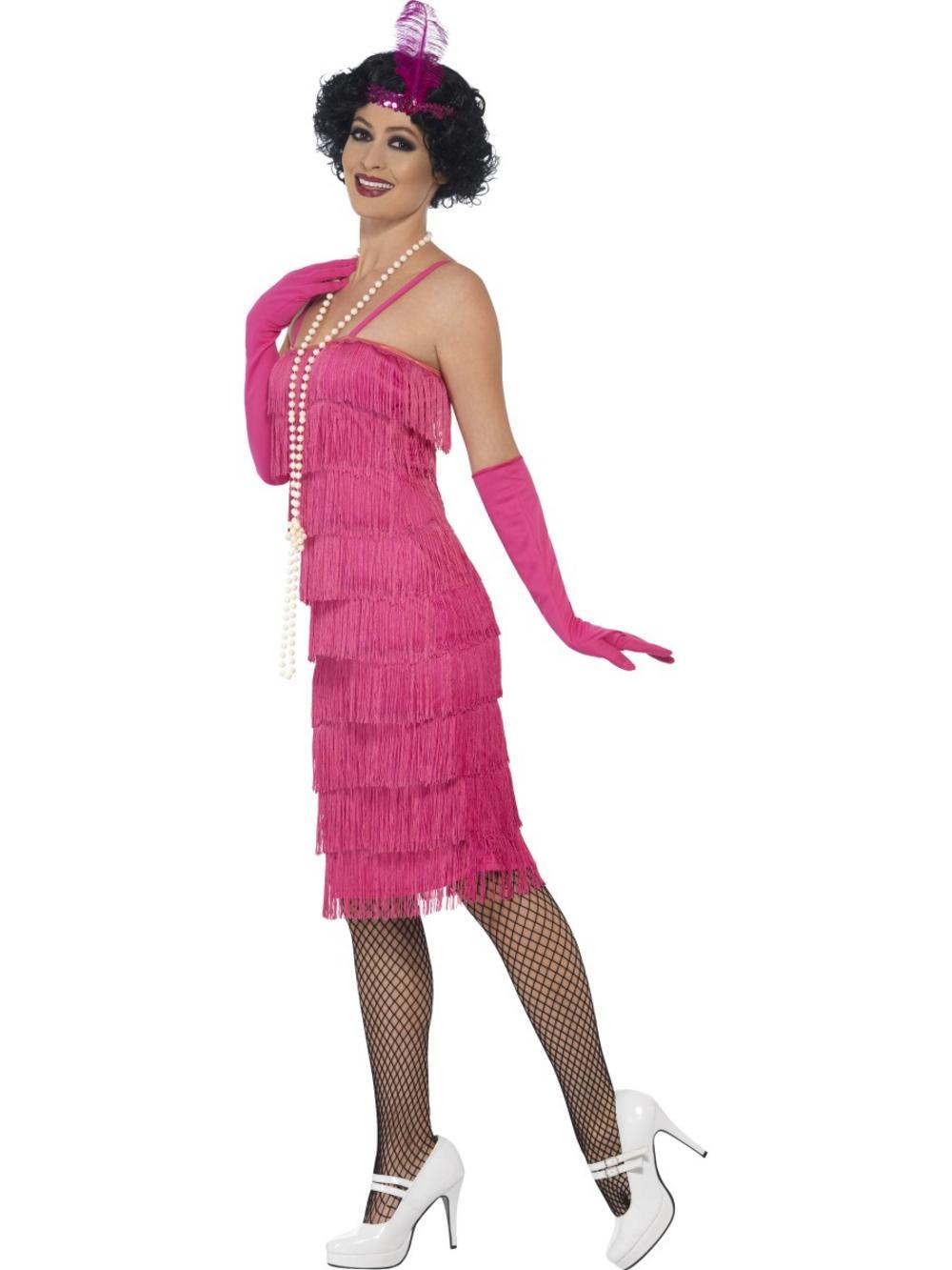 Pink Flapper Costume All Ladies Costumes Mega Fancy Dress