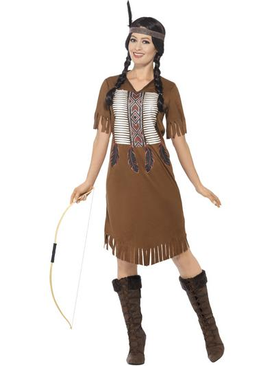 Native American Inspired Warrior Princess Ladies Costume
