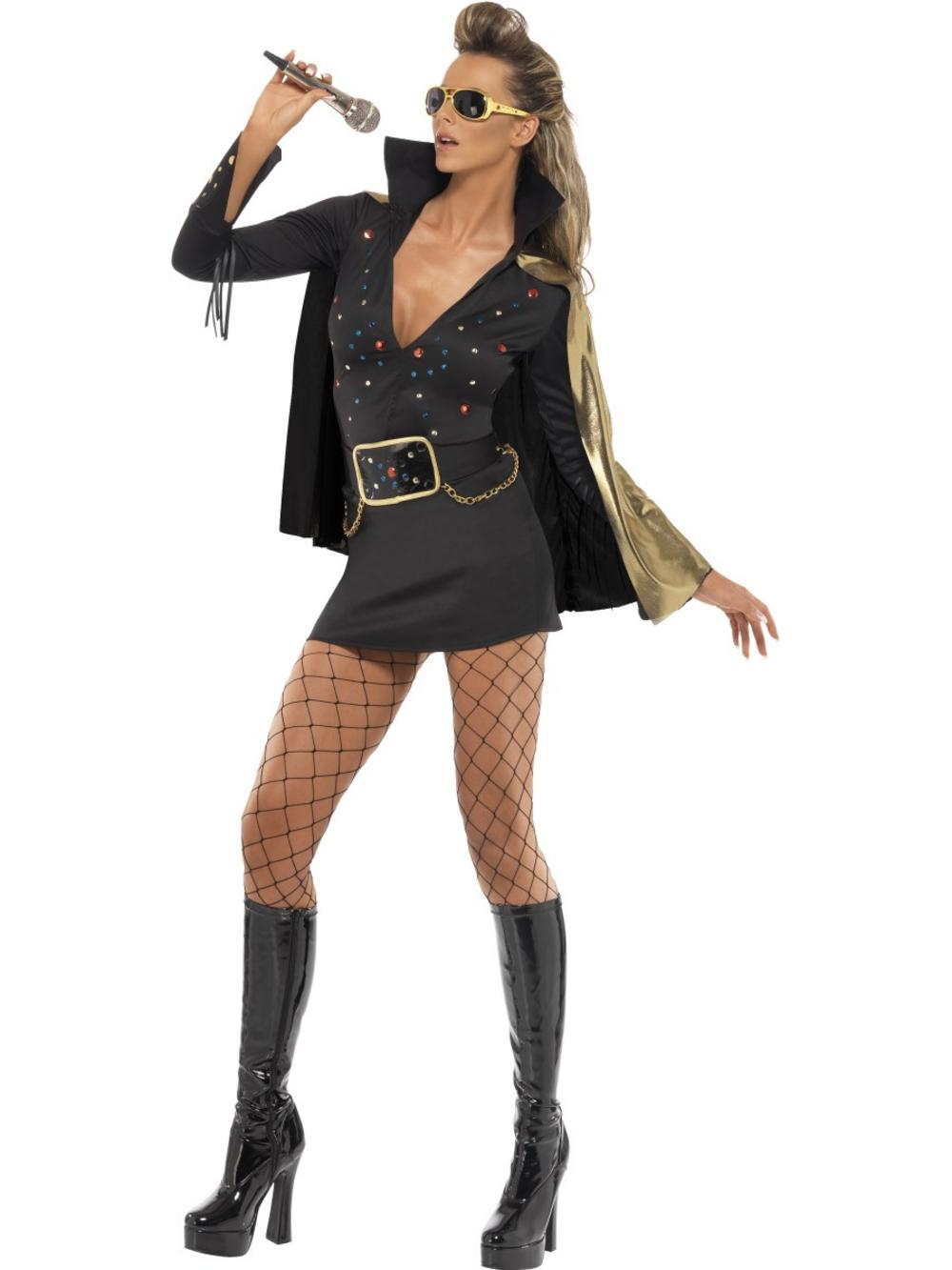 Elvis Viva Las Vegas Black Ladies Costume