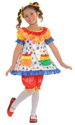 Clown Dress Girls Costume
