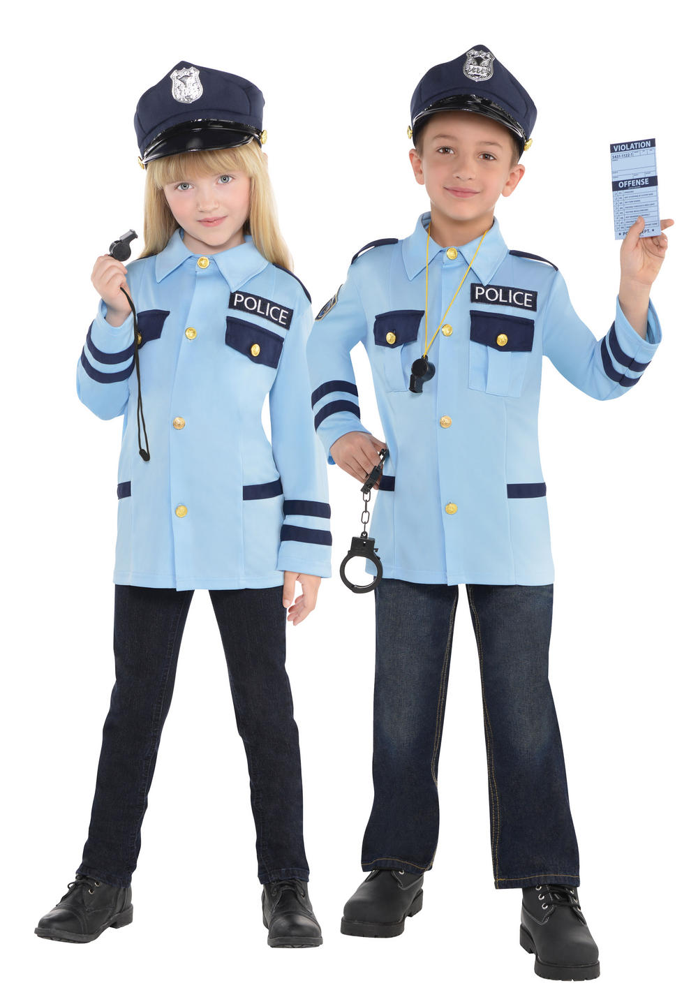 Police Kids Costume Kit | TV Book and Film Costumes | Mega Fancy Dress