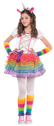 Rainbow Unicorn Girls Costume