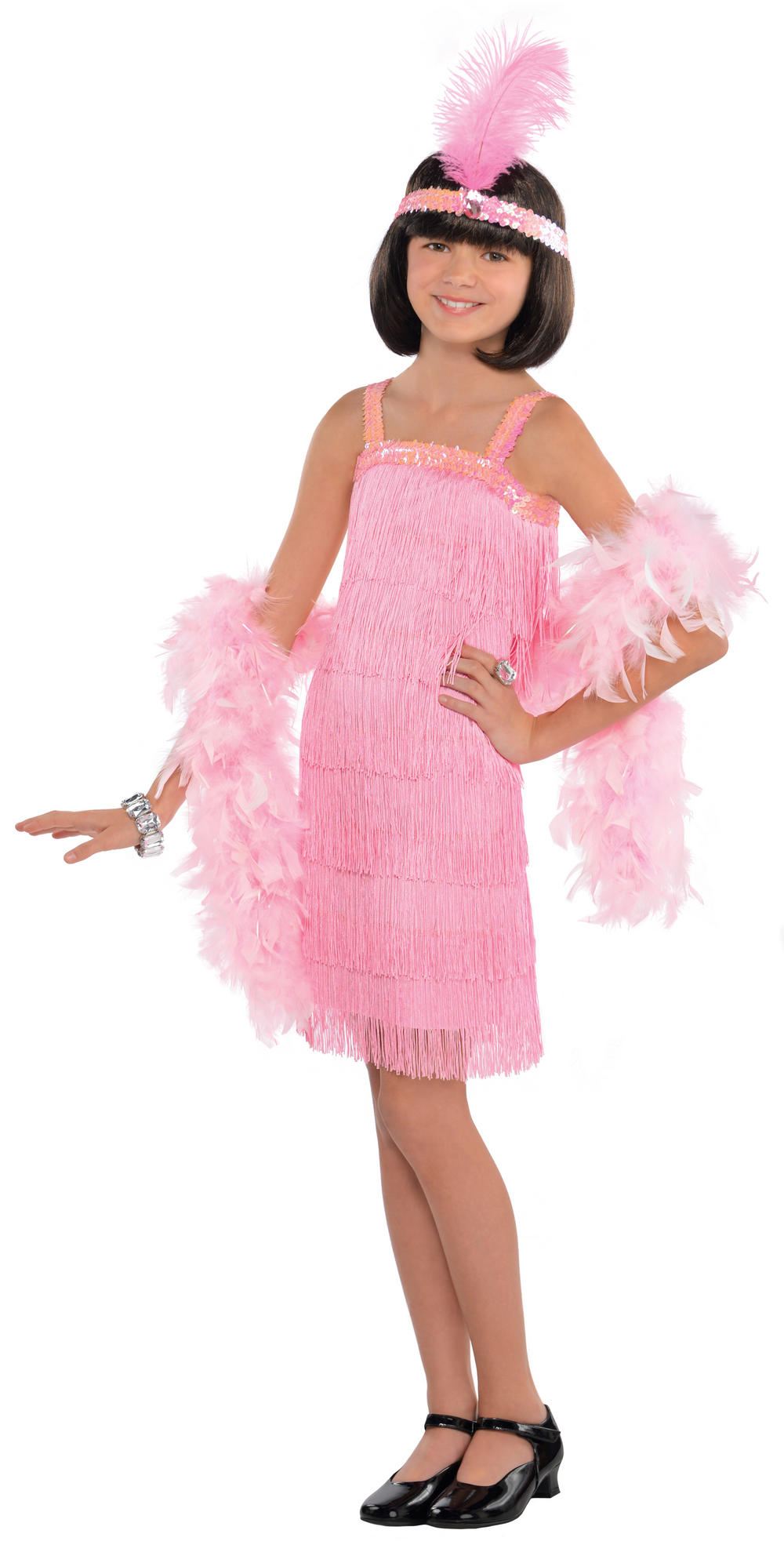Pink Flapper Girls Costume