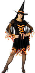 Orange Winsome Witch Costume