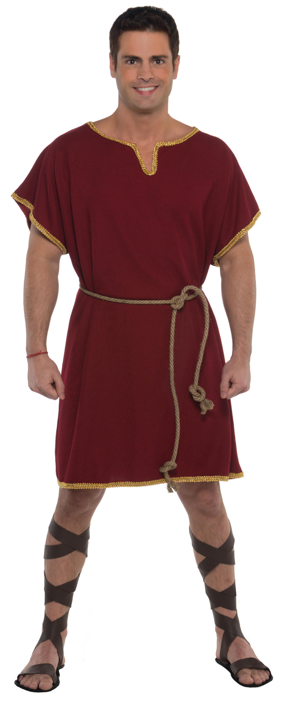 Burgundy Tunic Mens Costume