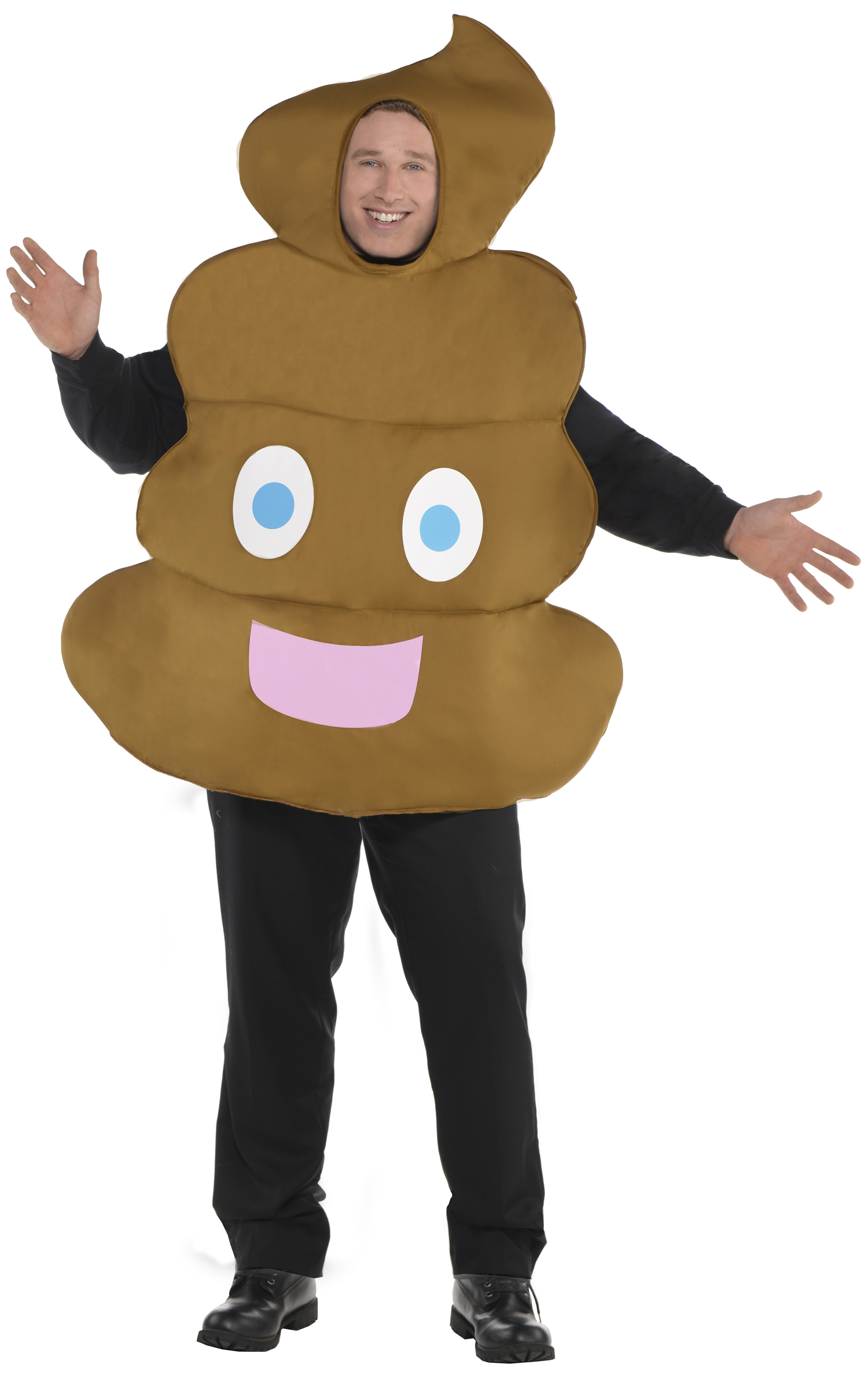 Sentinel Pooper Poop Adult Fancy Dress Funny Novelty Emoji Mens Womens Costume  Outfit New