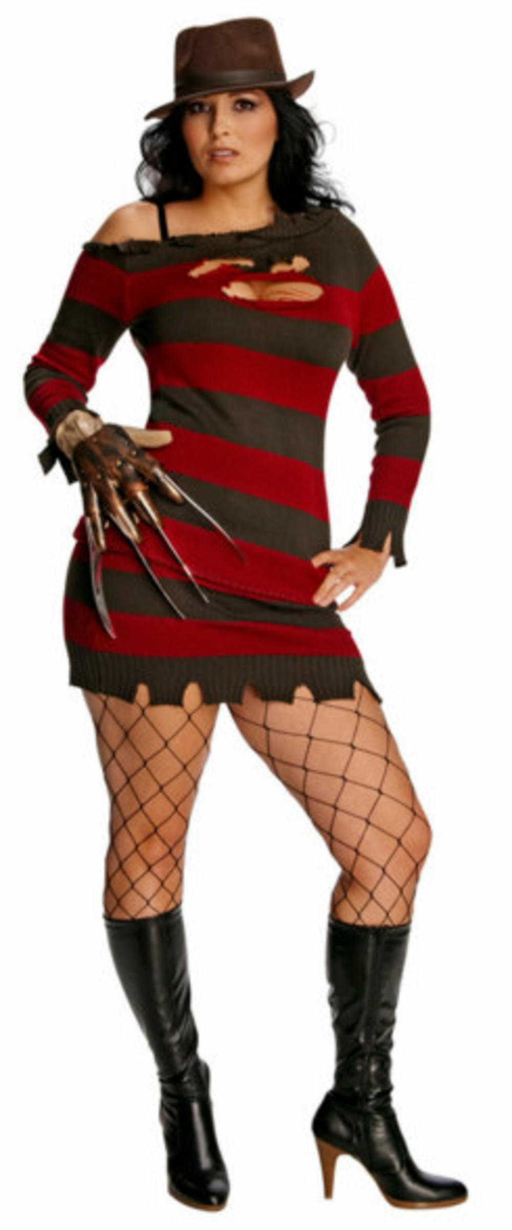Ms Freddy Krueger Plus Size Halloween Costume