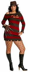 Ms Freddy Krueger Plus Size Halloween Costume