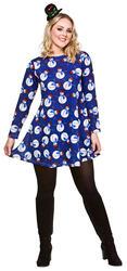 Ladies Snowman Christmas Dress