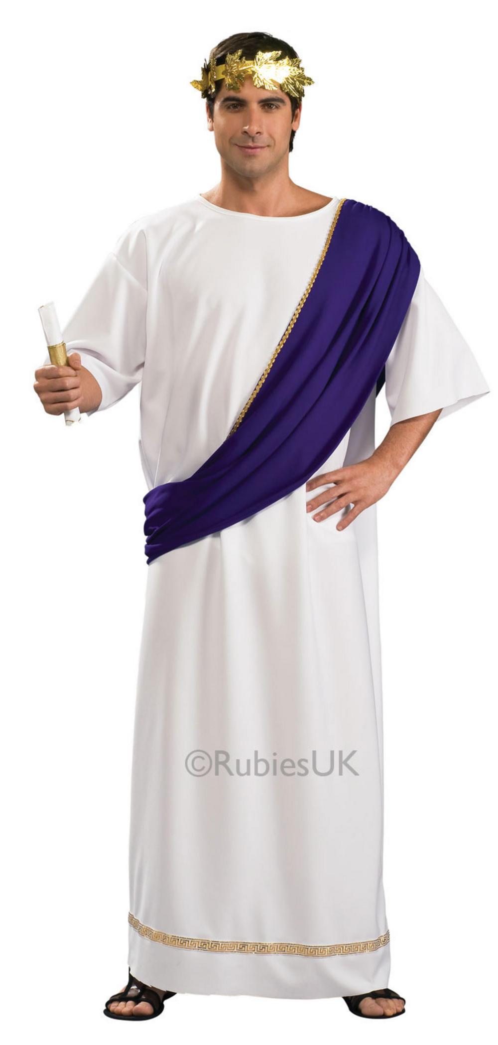 Mens  Roman Noble Fancy Dress Costume