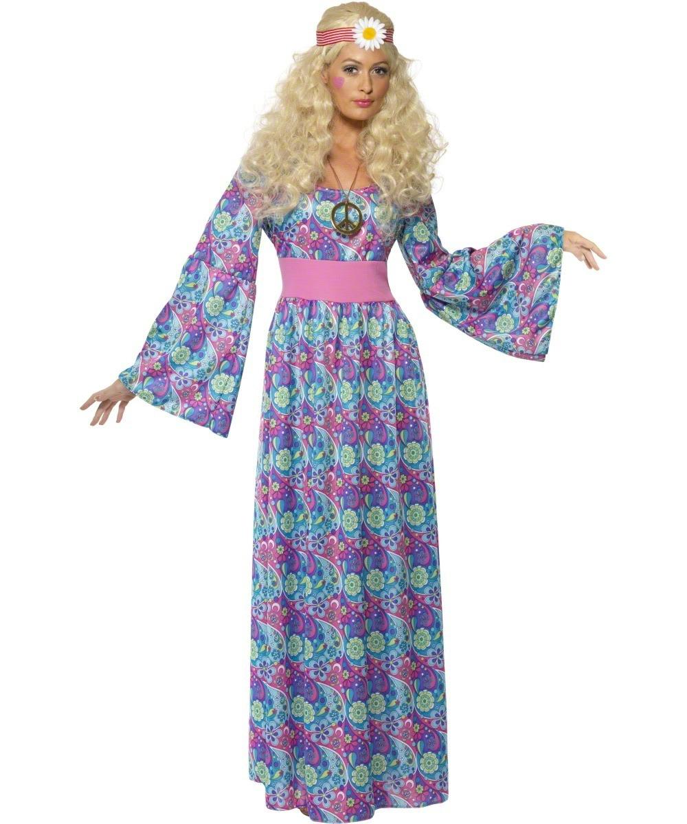 Flower Child Hippie Costume  sc 1 st  Mega Fancy Dress & Flower Child Hippie Costume | All Ladies Costumes | Mega Fancy Dress