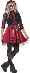 Day Of The Dead Diva Teens Costume