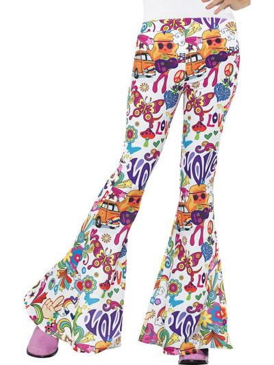 Groovy Flared Trousers Ladies Costume Accessory