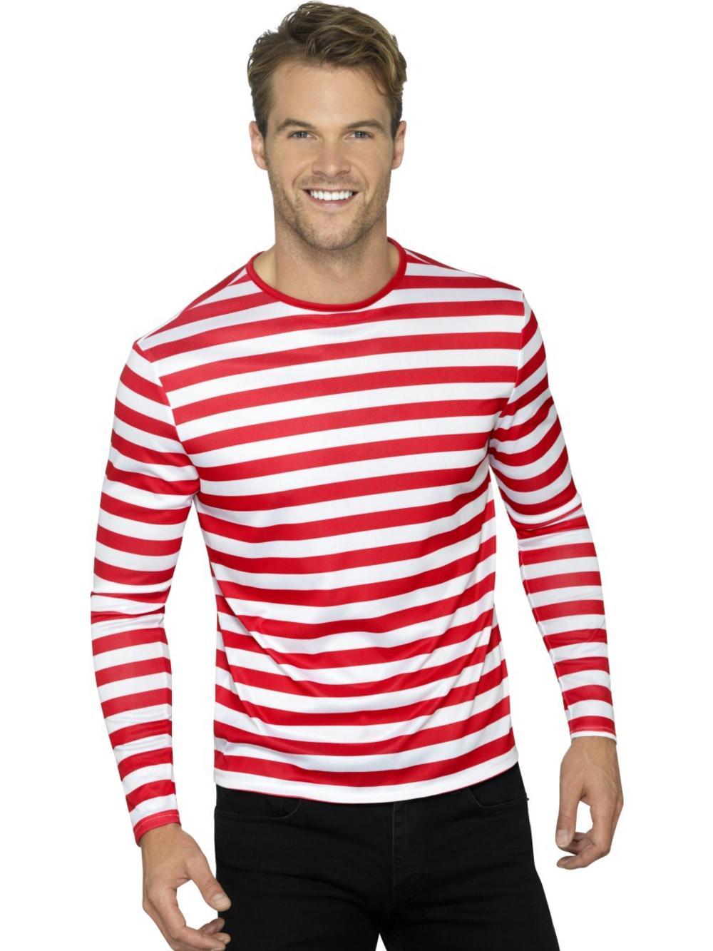Stripy T-Shirt Red & White